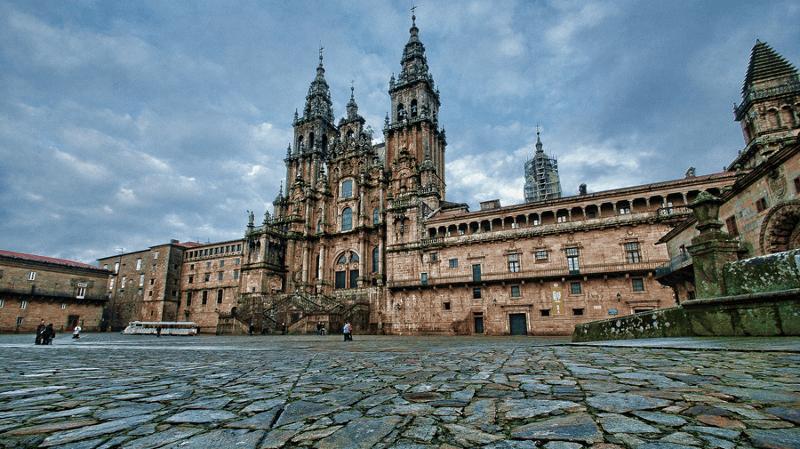 Planes de un peregrino en Santiago de Compostela