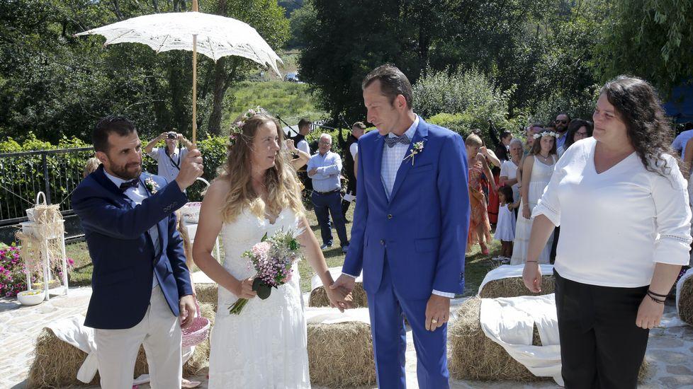 Dos peregrinos andaluces escogen nuestro albergue para celebrar su boda