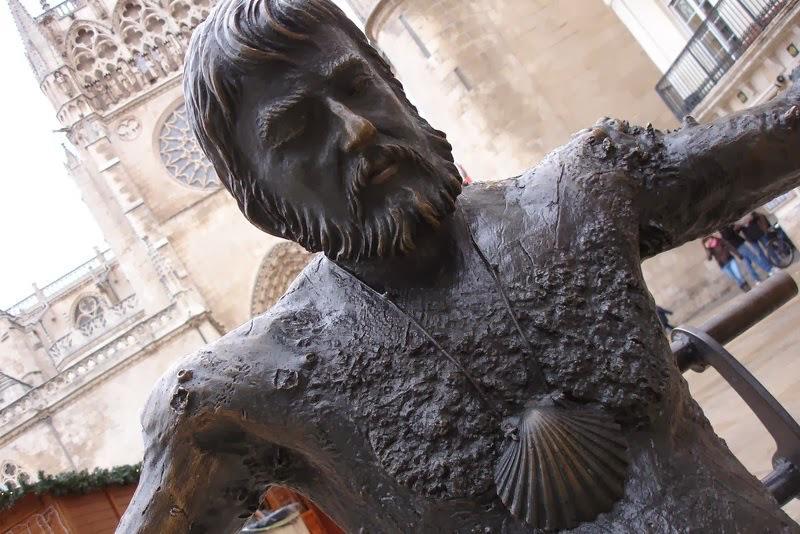 Monumentos a los peregrinos en el Camino de Santiago